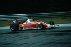 Carlos Alberto Reutemann (ARG) (Scuderia Ferrari SpA SEFAC), Ferrari 312T2 - Ferrari Tipo 015 3.0 F12 (RET)  1977 Belgian Grand Prix, Circuit Zolder