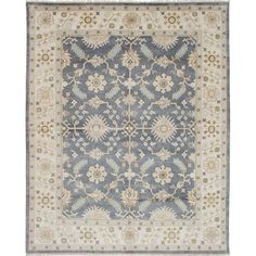 Blue,Wool,Oriental,8' x 10' 7x9 - 10x14 Rugs: Use large area rugs to bring a new mood to an old room or to plan your decor around a rug you love. Free Shipping on orders over $45!