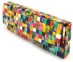 candy wrapper purse instructions: gullu