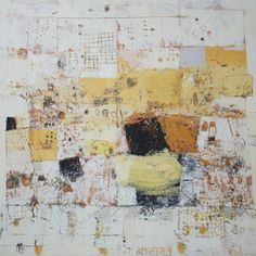 """Paul Balmer - """" Desert Cycles and Changing Seasons - mixed media """" Abstract Canvas Art, Abstract Painters, Art And Illustration, Painting Collage, Painting & Drawing, Encaustic Art, Artist Art, Lovers Art, Painting Inspiration"""
