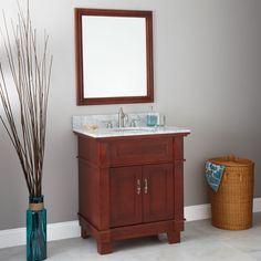 31 Sibony Vanity Cabinet with Undermount Basin and Mirror