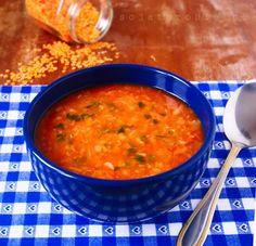 sojaturobie: Rozgrzewająca zupa z czerwonej soczewicy Lactose Free, Gluten Free, Baby Food Recipes, Tofu, Food And Drink, Lunch, Vegan, Dinner, Ethnic Recipes