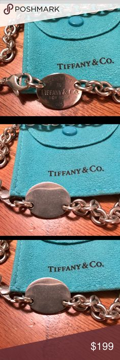 Authentic Tiffany necklace 15 in choker style Tiffany necklace preowned pouch included great condition❤️❤️ Tiffany & Co. Jewelry Necklaces