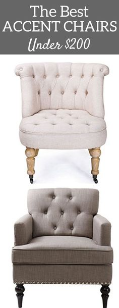 Fixer Upper Inspired accent chairs | the best farmhouse living room chairs | tufted accent chairs