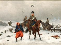 Prussian uhlans capture a French zouave, Franco-Prussian War
