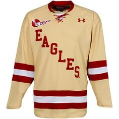 Under Armour Boston College Eagles Tackle Twill Hockey Jersey - Gold