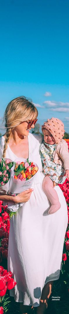 Tulip Fields and Windmills in Holland - Barefoot Blonde by Amber Fillerup Clark Dear Mom, My Mom, Holland Windmills, Dutch Tulip, Amber Fillerup Clark, Great Thank You, Barefoot Blonde, Tulip Fields, Colour Pallete