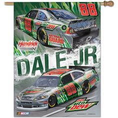 "Wincraft Dale Earnhardt, Jr. Diet Mountain Dew 27""x37"" Vertical Flag - Flags & Banners - NASCAR.COM SUPERSTORE"