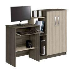 Mesa para Computador com Armário 2 Portas Super Office Nogal Teka Patrimar