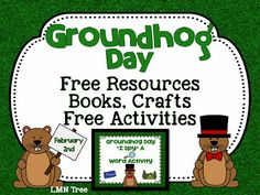 Groundhog Day: Free Resources, Craft Ideas, Books, and Free Activities from It's Elementary!