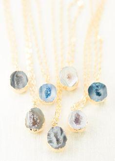 Gold druzy geode necklace by www.kealohajewelry.com https://www.etsy.com/listing/225292047