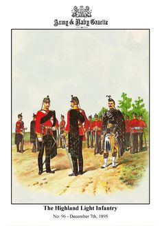 British Highland Light Infantry by R. British Army Uniform, British Uniforms, Military Gear, Military History, Red Coats, Tribal Outfit, Fantasy Armor, Army & Navy, Edwardian Era