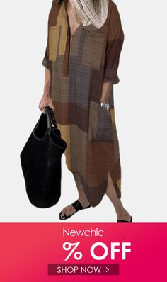 I found this amazing Plaid Print Long Sleeves Turn Down Collar Split Dress With Side Pocket with US$26.99,and 14 days return or refund guarantee protect to us. --Newchic #Womensdresses #womendresses #womenapparel #womensclothing #womensclothes #fashion #onlineshop #onlineshopping #bigdiscount #shopnow #DiscountSale #discountprices #discountstore #discountclothing #fashionista #fashionable #fashionstyle #fashionpost #fashionlover #fashiondesign #fashiondaily #fashionstylist #fashiongirl Cheap Summer Dresses, Beach Dresses, Fall Dresses, African Print Dresses, Animal Print Dresses, Tribal Dress, Boho Dress, Fox Print, Clothes For Sale