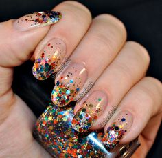 Soooo loving this... I love glitter!! I'd do this year round!!   New Years Bling