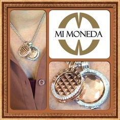We have had fun mixing the Mi Moneda Rosegold with Silver! Plus the stud and azar coins add great dimension to the combination! @Mi Moneda