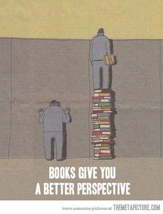 """The power of books… """"I libri ti danno una prospettiva migliore""""."""