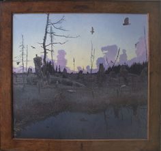"TOM UTTECH, OKWANIM (901), Oil on Linen, 45 1/2 x 49"" framed"