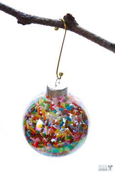DIY Sprinkles Ornaments