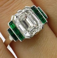 Emerald-Moissanite-Ring-5-58-Ct-White-K-M-Engagement-Wedding-925-Sterling-Silver