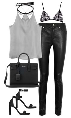 """Untitled#4640"" by fashionnfacts ❤ liked on Polyvore featuring Acne Studios, Fallon and Yves Saint Laurent"