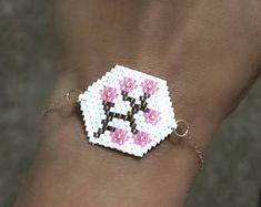 Miyuki delica bracelet - handmade bracelet- bracelet for her - unique bracelet