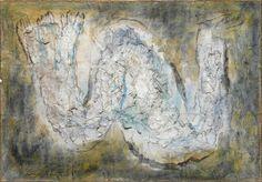 Jean Fautrier (1898-1964). L'écorché (Les Otages, Le Grand Otage), 1944. Oil on paper on canvas, 80 x 115 cm. Centre Georges Pompidou, Paris.