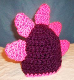 Baby Dino/Dragon Hat  Made To Order  You Choose Colors  by skylay, $20.00