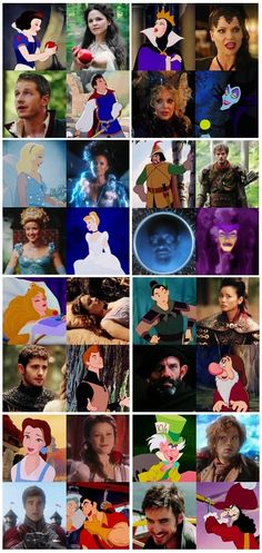 Disney characters and once upon a time