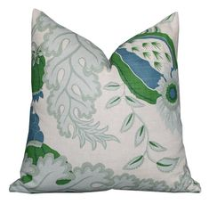 Christopher Farr Carnival Pillow Cover in Green by PinkandPiper