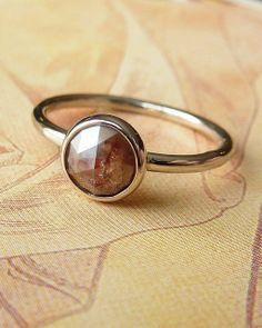Red Rose Cut Diamond Ring Deposit by kateszabone on Etsy, $400.00