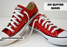 DIY Glitter Shoes