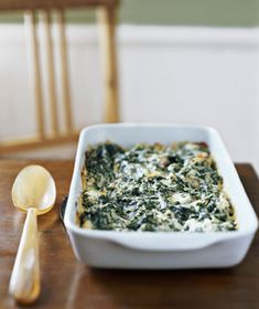 Creamed Spinach Gratin from Real Simple -- one of my holiday favorites, have made it for years!