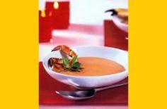 Lekker kerstmenu met o.a. gebraiseerde kalkoen met boschampignons - Soep: Kreeftensoep met krab en armagnac