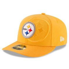 Men s New Era Gold Pittsburgh Steelers Sideline Classic Low Profile 59FIFTY  Fitted Hat a1d3b5571