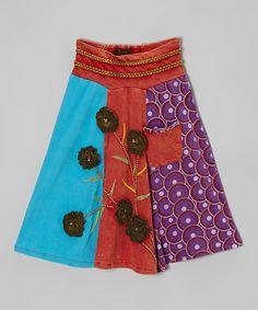 Look at this #zulilyfind! Red & Purple Rosette Skirt - Girls by Rising International #zulilyfinds