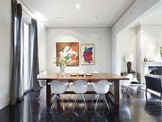 dark floors, white walls, grey curtains  desire to inspire - desiretoinspire.net
