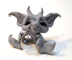 how to make trolls from polymer clay | Original Goblin Troll Fairy Baby Gargoyle by HedegaardsWhimsies
