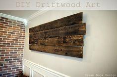 DIY Driftwood Art - Dream Book Design