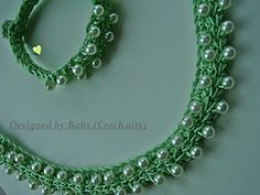 Ravelry: Apple Green Crochet Necklace & Bracelet pattern by Crocknits
