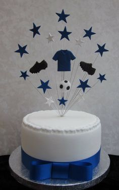 Chelsea, Everton Football Birthday Cake Topper Suitable For A 20cm Cake: Amazon.co.uk: Kitchen & Home