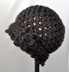 (4) Name: 'Crocheting : Classy Crochet Vintage Flowered Cloche