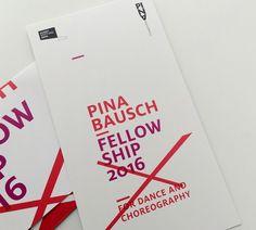 wppt:kommunikation GmbH Wuppertal #Graphic #Design #Logo #Flyer Pina Bausch Foundation: Konzeption, Umsetzung und Produktion Pina Bausch Fellowship 2016 www.wppt.de