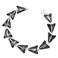 Arrow Bracelet made with Sterling Silver & Swarovski® Crystals