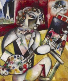 Marc+Chagall+-+Self-Portrait+with+Seven+Fingers,+1912-1913