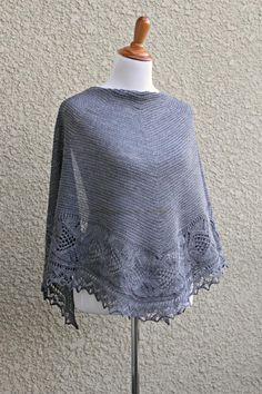 Lace Wrap, Knit Wrap, Love Crochet, Knit Crochet, Crochet Hoodie, Knit Lace, Crochet Gifts, Lace Knitting, Knitting Patterns