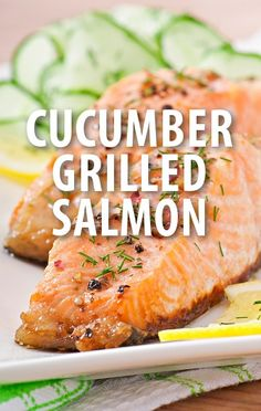 Michael Symon whipped up a special Grilled Salmon with Cucumber and Dill recipe. http://www.recapo.com/the-chew/the-chew-recipes/chew-sour-cherry-raspberry-granita-recipe-grilled-salmon-recipe/