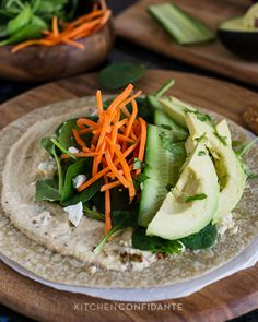 Veggie Wraps | Kitchen Confidante | Assembled