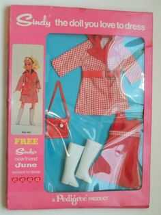 Vintage Pedigree Sindy 1972 Red Hot outfit complete in original box 60.99