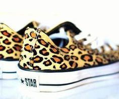 leopard chuck taylors   @Felicia Davidsson Davidsson Davidsson Davidsson Davidsson Davidsson Sell ~ now here is a pair of leopard print shoes I can do :)