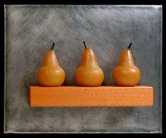 Jen Violette - Three Large Golden Pears Still Life - Masterpiece Online Wall Sculptures, Sculpture Art, Glass Wall Art, American Crafts, Handmade Design, Fine Art Gallery, Hand Blown Glass, Online Art, Art Decor